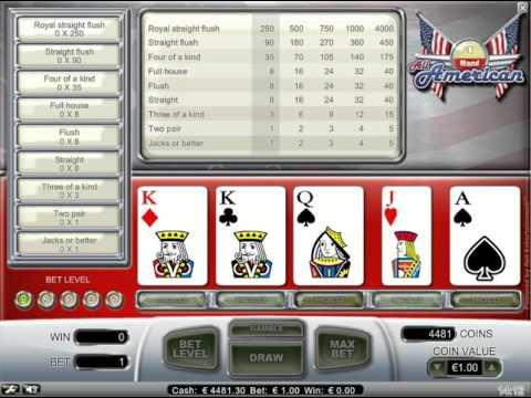 All American - video poker