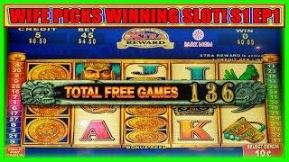 WIFE PICKS A WINNING SLOT! TURNING $900 FREE PLAY INTO PROFIT | MAYAN CHIEF | (S1 - Ep1)