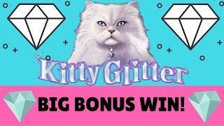 BIG BONUS WIN • KITTY GLITTER • 5 Cent Denom * Pharoah's Fortune Bonus Win