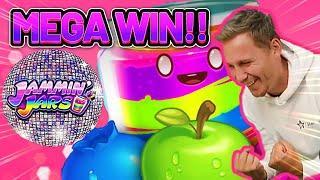 MEGA WIN! JAMMIN JARS BIG WIN - €4 bet on Casino Slot from CASINODADDY