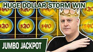⋆ Slots ⋆ HUGE Dollar Storm HANDPAY ⋆ Slots ⋆ KING RAJA Takes Down the EMPEROR in Emperor's Treasure