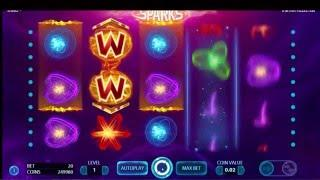 NETENT Sparks Slot REVIEW Featuring Big Wins With FREE Coins