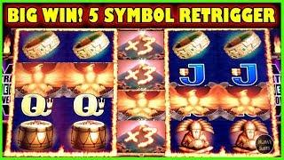 * SUPER BIG WIN * • FIRE LIGHT II - 5 SYMBOL BONUS RETRIGGER • (Aristocrat Slot Machine)