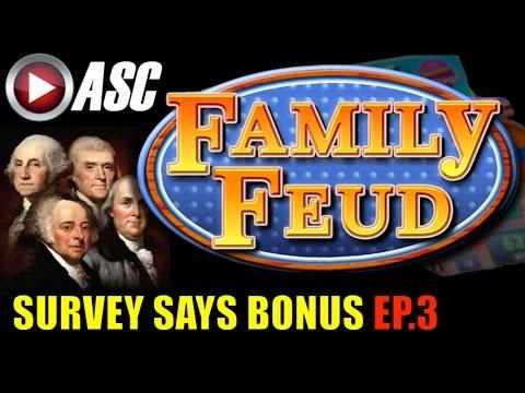FAMILY FEUD | SURVEY SAYS BONUS (EP.3) Slot Machine Bonus (AGS)