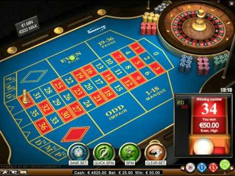 French Roulette - The Virtual Games
