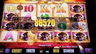 ** JACKPOT ALERT ** MASSIVE HANDPAY ** BUFFALO GOLD ** SLOT LOVER **