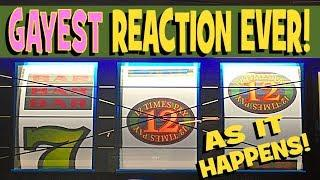 MY BIGGEST JACKPOT EVER!! **MASSIVE HANDPAY** LIVE AS IT HAPPENS! 12 TIMES PAY Slot! *Brent Slots*