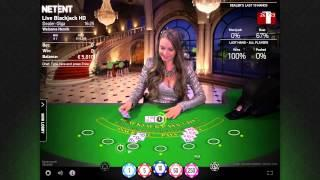 NetEnt - Live Casino - VIP Blackjack gameplay