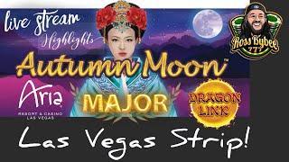 MAJOR JACKPOT CHASE! Autumn Moon Aria Casino Las Vegas LiveStream Highlights