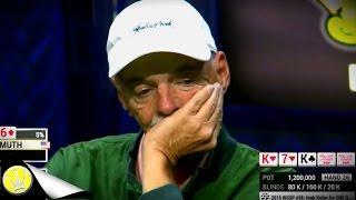 Phil Hellmuth falls into Elderly Amateur Player's Trap (KKKK HAND)