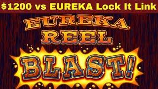 When Slots DON'T PAY Anything ! $1200 vs EUREKA Lock It Link Slot Machine | Loteria Lock It Link