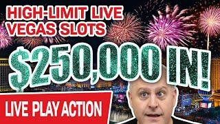 ★ Slots ★ $250,000 High-Limit HUGE LIVE STREAM Slot Play from LAS VEGAS ★ Slots ★ Up To $1,000 a Spi