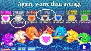 5 Dragons Deluxe Slot Machine - 3 Mystery Choice Tries On A Bad Day
