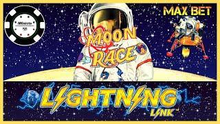•️HIGH LIMIT Lightning Link MOON RACE  •️Dollar Storm Ninja Moon Slot Machine CASINO