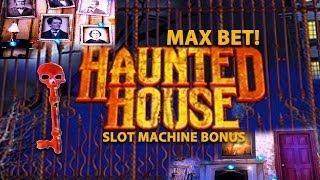 MAX BET! Haunted House - Slot Machine Bonus (Nice Win)