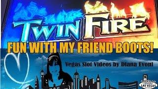 TWIN FIRE SLOT MACHINE BONUS! QUICK HIT AND HOT SHOT!
