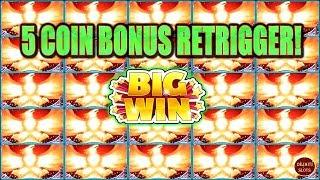 5 COIN BONUS RETRIGGER! STEPPING IN DOG POOP LEADS TO BIG WIN!