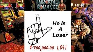 •$700,000 Thousand DOLLARS LOST! No Love on Hearts Casino Video Slot Machine Immortal Romance, • SiX
