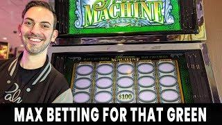 • MAX BET For That GREEN! • WINNING on Green Machine • Agua Caliente Rancho Mirage