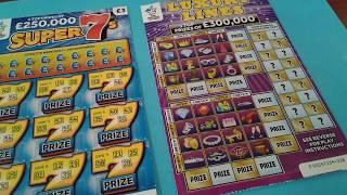 Wednesday Scratchcards...with Mystery Guest Star?..&..Luxury Lines Vs Super 7's