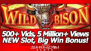 Wild Bison Slot - 500+ Vids, 5 Million+ Views Milestone, NEW Slot, Big Win Bonus