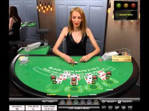 Live Dealer Casino Blackjack Session April 2016