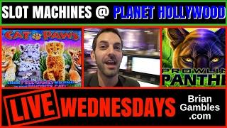 *LIVE* Casino Slot Play •RECORDED LIVE Animal Themed Slots Pokies• Planet Hollywood, Las Vegas