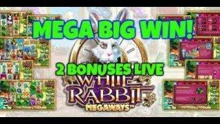 WHITE RABBIT MEGA BIG WIN!!  (BIG TIME GAMING) RETRIGGERS GALORE