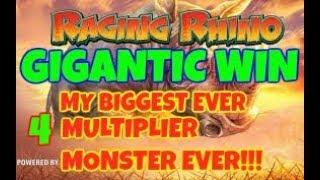 RAGING RHINO (WMS) NEW GIGANTIC **SUPER MEGA WIN** & WITHDRAWAL. HOW MANY THOUSAND X STAKE??!!!