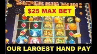 JACKPOT Hand Pay - $25 BET + LIVE PLAY, BIG WINS, FREE SPINS BONUS & 2 Progressive WINS!