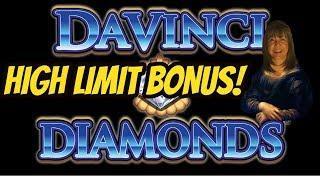 HIGH LIMIT DAVINCI DIAMONDS BONUS-MAKING UP WITH DAVINCI!