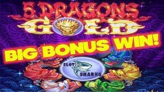 BIG BONUS WIN on 5 Dragons Gold ! Bonus Buffalo Gold Slot Play
