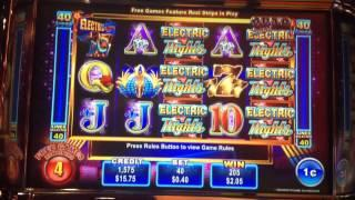 QUAD SHOT Electric Nights Slot Machine 10 FREE SPINS