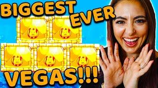 My BIGGEST JACKPOT HANDPAY EVER on Huff N Puff in Vegas!!!!