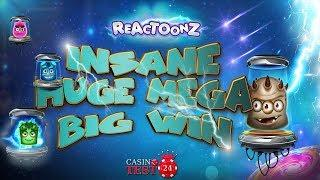 MUST SEE!!! INSANE HUGE MEGA BIG WIN ON REACTOONZ SLOT - BIGGEST WIN ON YOUTUBE?!