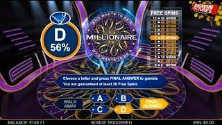 Who Wants To Be A Millionaire Slot - 20 Spins BIG WIN!