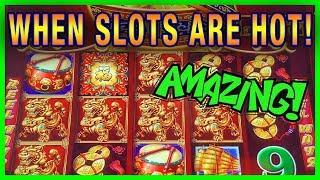 AMAZING DANCING DRUMS RUN! • BIG BACK TO BACK BONUSES • JACKPOT HANDPAY POTENTIAL