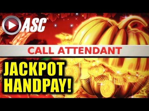 *JACKPOT HANDPAY!* GOLDEN PUMPKIN | KONAMI - Slot Machine Bonus (PART 2 of 2)