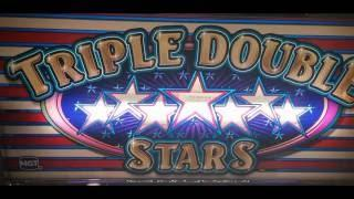 TRIPLE DOUBLE STARS Slot $9.00 BET - QUICK NICE LINE HIT! at Pechanga Resort and Casino