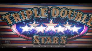 TRIPLE DOUBLE STARS Slot $9.00 BET - QUICK NICE LINE HIT! at Pechanga Resort and Casino