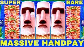 FULL SCREEN •HANDPAY JACKPOT• Great Moai Slot Machine $7.50 Max Bet •SUPER RARE HANDPAY• | Live Slot