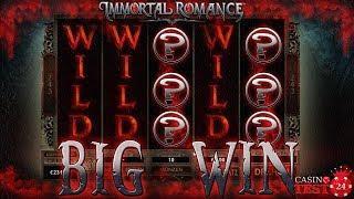 BIG WIN on Immortal Romance Slot (Microgaming) - Wild Desire - 3€ BET!