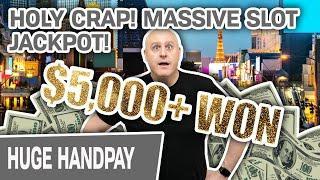 ⋆ Slots ⋆ HOLY CRAP ⋆ Slots ⋆ MASSIVE Handpay Jackpot Playing High-Limit Slots in Las Vegas