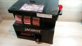 How To Make A Gamble Box/Casino Slots Machine At Home (Prize:CocaCola,Fanta Or Money)