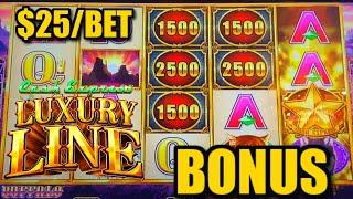 HIGH LIMIT Cash Express Luxury Line Buffalo ⋆ Slots ⋆️$25 MAX BET Bonus Rounds Slot Machine Casino