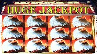 • HUGE JACKPOT • REEL HELD FULL SCREEN EAGLES • HIGH LIMIT SLOT MACHINE