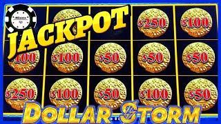 •️HIGH LIMIT Dollar Storm Caribbean Gold HANDPAY JACKPOT •️$50 SPIN BONUS ROUND Slot Machine Casino