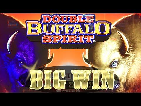 BIG WIN | DOUBLE BUFFALO SPIRIT SLOT MACHINE BONUS Wms Slots
