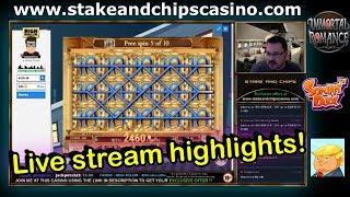 Slots Bonuses - Live Stream Highlights !! CASINO WINS