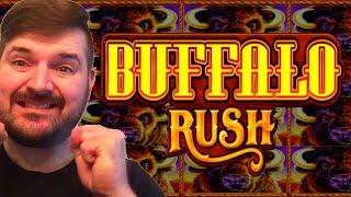 BEST FIRST BONUS EVER!!! ⋆ Slots ⋆  MOST RETRIGGERS ON YOUTUBE! ⋆ Slots ⋆  Buffalo Rush Slot Machine
